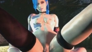 Jinx Cowgirl sfmvr.tumblr CGI girl vr porn video vrporn.com virtual reality