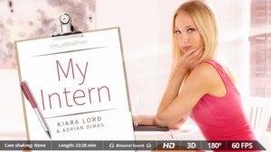 My Intern - Hot Slut Comes To Your Apartment VirtualRealPorn Kiara Lord Adrian Dimas VR porn video vrporn.com