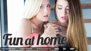 Fun At Home - Join This 3-Way Erotic Adventure VirtualRealPorn Misha Cross Juan Lucho VR porn video vrporn.com