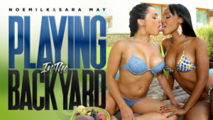 Playing In The Background - VR Interracial Lesbian Fun RealityLovers Noemilk Sara May VR Porn video vrporn.com