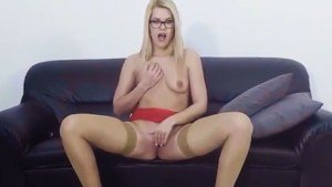 Sexy Blonde With Glasses VRSexyGirlz Izzy_Delphine vr porn video vrporn.com virtual reality