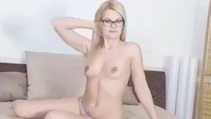 Blonde with glasses puts her dildo to work VRSexyGirlz Izzy_Delphine vr porn video vrporn.com virtual reality
