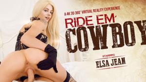 Ride Em Cowboy VRBangers Elsa Jean VR Porn video vrporn.com