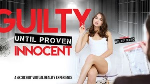 Guilty Until Proven Innocent - Horny Young Brunette Masturbation VRBangers Riley Reid vr porn video vrporn.com virtual reality
