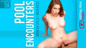 Pool Encounters VirtualRealPorn Anna De Ville vr porn video vrporn.com virtual reality
