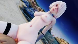 Nier Automata - 2B Sunset Beach Cowgirl Lewd FRAGGY vr porn video vrporn.com virtual reality