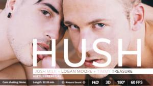 Hush VirtualRealGay Timmy Treasure Logan Moore vr porn video vrporn.com virtual reality