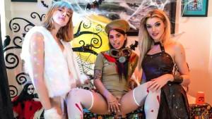 Halloween House Party Pickle-Dick WANKZVR Lena Anderson Anny Aurora Gina Valentina vr porn video vrporn.com virtual reality
