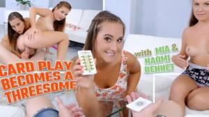 Card Play Becomes a Threesome TmwVRnet Naomi Bennet Mia vr porn video vrporn.com virtual reality