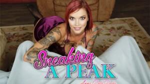 Sneaking A Peak BaDoinkVR Anna Bell Peaks vr porn video vrporn.com virtual reality